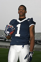 State College, PA - July 10, 2006:  Penn State defensive back Justin King poses for a portrait in Beaver Stadium on July 10, 2006, in State College, PA.   (PHOTO BY: Joe Rokita)