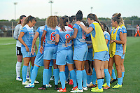 Piscataway, NJ - Saturday Aug. 27, 2016: Chicago Red Stars starters prior to a regular season National Women's Soccer League (NWSL) match between Sky Blue FC and the Chicago Red Stars at Yurcak Field.