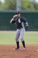 Chicago White Sox shortstop Ramon Beltre (6) during an Instructional League game against the San Diego Padres on September 26, 2017 at Camelback Ranch in Glendale, Arizona. (Zachary Lucy/Four Seam Images)
