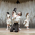 Macbeth by William Shakespeare. A Shakespeare's Globe Production directed by Eve Best. with Joseph Millson as Macbeth,  Cat Simmons , Moyo Akande, Jess Murphy as Witches .Opens at the Shakespeare's Globe Theatre on 4/7/13  pic Geraint Lewis