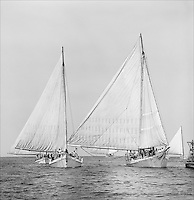 """Chesapeake Bay Skipjacks round the buoy off Deal Island Maryland.  Fine Art, Limited Edition Skipjack print from the """"Skipjack Sunday"""" collection."""