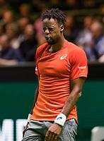 Rotterdam, The Netherlands, 12 Februari 2019, ABNAMRO World Tennis Tournament, Ahoy, first round singles: Gael Monfils (FRA),<br /> Photo: www.tennisimages.com/Henk Koster