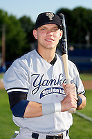 Staten Island Yankees first baseman Matt Snyder #45 poses for a photo before a game against the Batavia Muckdogs at Dwyer Stadium on July 30, 2012 in Batavia, New York.  Batavia defeated Staten Island 5-4 in 11 innings.  (Mike Janes/Four Seam Images)