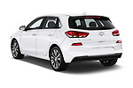 Car pictures of rear three quarter view of a 2018 Hyundai Elantra GT GT Auto 5 Door Hatchback angular rear