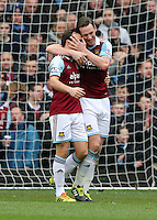 Pictured:  Kevin Nolan of West Ham second goal. 01 February 2014<br />