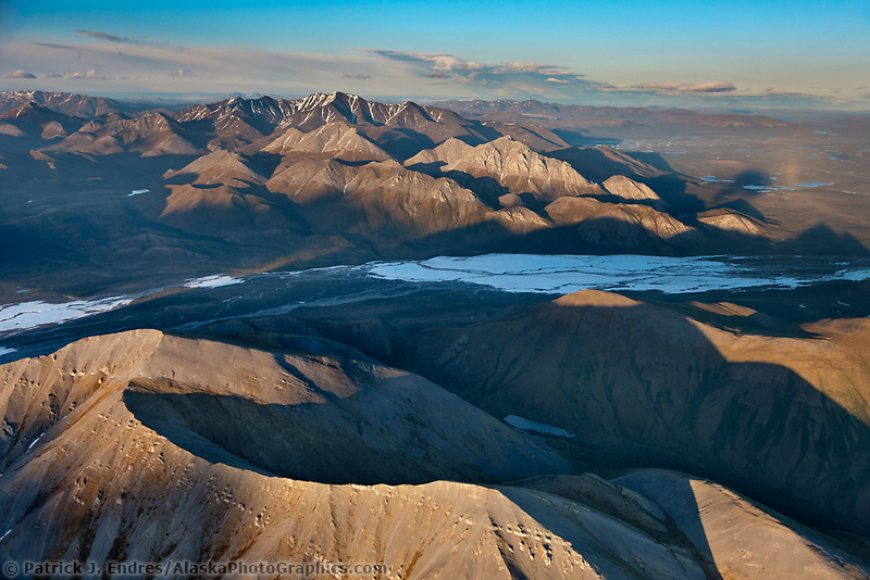 Aerial of the Brooks Range, Arctic National Wildlife Refuge, Alaska.