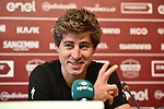 The press conference on the eve of the Strade Bianche and the Strade Bianche Women Elite featured Road World Champion Peter Sagan (SVK) held in Palazzo Sansedoni in Piazza del Campo, Siena, Italy. 2nd March 2018.<br /> Picture: LaPresse/Massimo Paolone | Cyclefile<br /> <br /> <br /> All photos usage must carry mandatory copyright credit (© Cyclefile | LaPresse/Massimo Paolone)