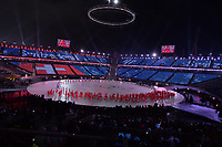 OLYMPIC GAMES: PYEONGCHANG: 09-02-2018, PyeongChang Olympic Stadium, Olympic Games, Opening Ceremony, Team Switzerland, ©photo Martin de Jong