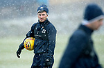 St Johnstone Training…22.01.19   McDiarmid Park<br />Matty Kennedy pictured during a snowy training session this morning ahead of tomorrw night's game against Livingston.<br />Picture by Graeme Hart.<br />Copyright Perthshire Picture Agency<br />Tel: 01738 623350  Mobile: 07990 594431