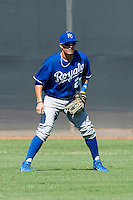 Kansas City Royals minor league outfielder Ethan Chapman #26 during an instructional league game against the Seattle Mariners at the Peoria Sports Complex on October 2, 2012 in Peoria, Arizona. (Mike Janes/Four Seam Images)