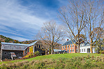Late autumn on the Howe farms in Tunbridge, VT, USA