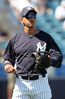 New York Yankees third baseman Alex Rodriguez #13 before a scrimmage against the USF Bulls at Steinbrenner Field on March 2, 2012 in Tampa, Florida.  New York defeated South Florida 11-0.  (Mike Janes/Four Seam Images)