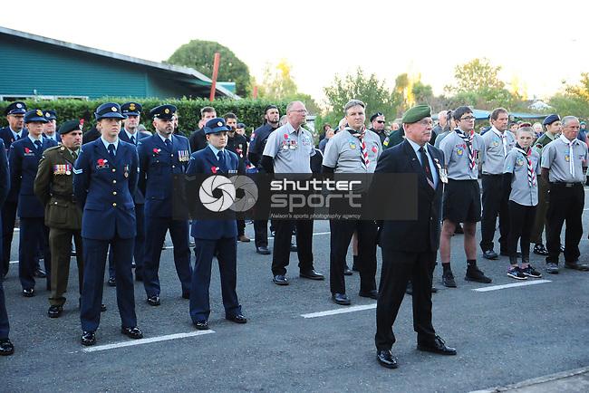 NELSON, NEW ZEALAND -2021 ANZAC Day Service in Motueka, Nelson. New Zealand. Sunday 25 April 2021. (Photo by Trina Brereton/Shuttersport Limited)