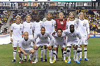 United States (USA) starting eleven. The men's national teams of the United States (USA) and Colombia (COL) played to a 0-0 tie during an international friendly at PPL Park in Chester, PA, on October 12, 2010.