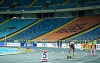 2nd May 2021; Silesian Stadium, Chorzow, Poland; World Athletics Relays 2021. Day 2; Great Britain's Laviai Nielsen out of the blocks in the ladies 4 x 400