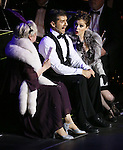 """Nancy Opel, Tony Yazbeck and Rachel Bloom during the Manhattan Concert Productions 25th Anniversary concert performance of """"Crazy for You"""" at David Geffen Hall, Lincoln Center on February 19, 2017 in New York City."""
