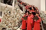 The Houston Children's Chorus performs at the M.D. Anderson Santa's Elves party Thursday Dec. 07,2017. (Dave Rossman Photo)