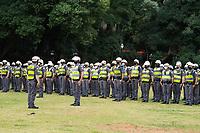 SÂO PAULO, SP, 29.05.2021 - PROTESTO-SP Movimentação da Policia Militar na Praça Alexandre de Gusmão antes da manifestação na Av Paulista neste sábado, 29. (Foto Andre Ribeiro/Brazil Photo Press)