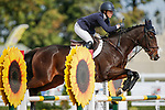 October 17, 2021: Mia Farley (USA), aboard Phelps, competes during the Stadium Jumping Final at the 3* level during the Maryland Five-Star at the Fair Hill Special Event Zone in Fair Hill, Maryland on October 17, 2021. Jon Durr/Eclipse Sportswire/CSM