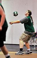 11 October 2011: The Vermont Commons School Flying Turtles host the Lyndon Institute Volleyball Club at the Sports and Fitness Edge Gymnasium in South Burlington, Vermont. The matches were the last home games of the VCS boys team  for the 2011 season. Mandatory Credit: Ed Wolfstein Photo