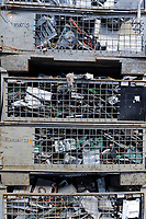 GERMANY, Hamburg, recycling of electronical scrap and old consumer goods at company TCMG, the trash is collected by the urban waste disposal system and than processed and separated here after metals like copper and plastics for further recycling and reuse, by law is not allowed to export e-scrap to africa and other countries
