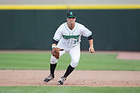 Dayton Dragons first baseman Bruce Yari (24) on defense against the West Michigan Whitecaps at Fifth Third Field on May 29, 2017 in Dayton, Ohio.  The Dragons defeated the Whitecaps 4-2.  (Brian Westerholt/Four Seam Images)