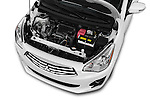 Car Stock 2017 Mitsubishi Mirage-G4 SE-CVT 4 Door Sedan Engine  high angle detail view