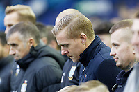 Sheffield Wednesday manager Garry Monk observes a minute's silence prior to the Sky Bet Championship match between Sheffield Wednesday and Swansea City at Hillsborough Stadium, Sheffield, England, UK. Saturday 09 November 2019