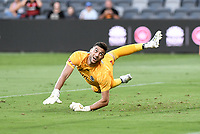 10th February 2021; Bankwest Stadium, Parramatta, New South Wales, Australia; A League Football, Western Sydney Wanderers versus Melbourne Victory; Max Crocombe of Melbourne Victory watches a shot go wide