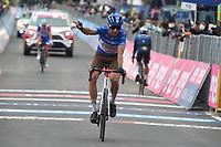 29th May 2021;  Giro D italia stage 20 Valle Spluga to Alpe Motta; Ag2r - Citroen Bouchard, Geoffrey arrives in Alpe Motta