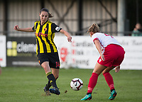 Katie O'Leary of Watford Ladies during the 2018/19 Pre Season Friendly match between Watford Ladies and Stevenage Ladies FC at Gaywood Park, Hempstead Road, England on 16 August 2018. Photo by Andy Rowland.