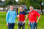 Mark O'Shea Caherciveen, James Boo Boo Fleming Killarney and Frank Dineen Cork at the Deerpark P+P Scrathplay Championship on Sunday