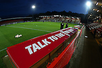 General view of the ground ahead of Stevenage vs Brighton & Hove Albion Under-23, Checkatrade Trophy Football at the Lamex Stadium on 4th October 2016