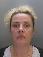"""Pictured: Undated custody picture of Mandy Jones<br />Re: Ten people have been sentenced for defrauding four pensioners from north Wales out of hundreds of thousands of pounds for non existent, poor or unnecessary building work.<br />They defrauded one person out of £650,000 and another victim was the late grandmother of actor Jude Law.<br />Meinwen Parry, 89, who died in March 2015, had paid out £60,000 for work which should have cost about £3,500.<br />Sentencing took place at Caernarfon Crown Court on Friday.<br />Judge Huw Rees said the level of greed was outstanding.<br />Stephen Jones, 38, from Llangefni, Anglesey, targeted Ms Parry's home at Bangor, Gwynedd.<br />He and Bedwyr Roberts, 35, from Bangor, also took £650,000 in life-savings from cancer patient John Bates between 2009-16, the court heard.<br />They were jailed for eight and six years respectively.<br />The offences centred around """"extortionate"""" costs for roofing and building work undertaken in the Anglesey, Bangor and Conwy areas, said North Wales Police. The other defendants sentenced were:"""