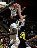 Robert Thurman of California dunks the ball during the game against Oregon at Haas Pavilion in Berkeley, California on February 16th, 2012.  California defeated Oregon, 86-83.