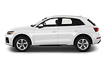 Car Driver side profile view of a 2021 Audi Q5 Premium 5 Door SUV Side View