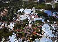 aerial photograph of Disney World Magic Kingdom, Orlando, Florida