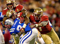 Florida State Seminoles vs the Duke Blue Devils during the 2013 ACC Championship game at Bank of America Stadium in Charlotte, North Carolina.<br /> <br /> Charlotte Photographer - PatrickSchneiderPhoto.com