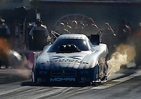 Oct. 28, 2012; Las Vegas, NV, USA: NHRA funny car driver Jack Beckman during the Big O Tires Nationals at The Strip in Las Vegas. Mandatory Credit: Mark J. Rebilas-