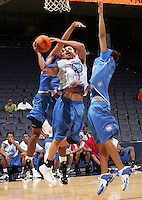 WF Frank Otis (Oakland, CA / McClymonds) shoots the ball during the NBA Top 100 Camp held Friday June 22, 2007 at the John Paul Jones arena in Charlottesville, Va. (Photo/Andrew Shurtleff)