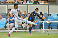 San Jose, CA - Monday July 10, 2017: Nick Lima during a U.S. Open Cup quarterfinal match between the San Jose Earthquakes and the Los Angeles Galaxy at Avaya Stadium.