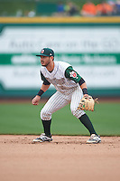 Fort Wayne TinCaps second baseman Kodie Tidwell (3) during the first game of a doubleheader against the Great Lakes Loons on May 11, 2016 at Parkview Field in Fort Wayne, Indiana.  Great Lakes defeated Fort Wayne 3-0.  (Mike Janes/Four Seam Images)