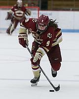 Boston, Massachusetts - December 1, 2018: NCAA Division I. Boston University (white) defeated Boston College (maroon), 4-2, at Walter Brown Arena.