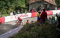 Martijn Tusveld (NED/Sunweb) at the finish after climbing the extremely brutal Alto de los Machucos <br /> <br /> Stage 13: Bilbao to Los Machucos / Monumento Vaca Pasiega (166km)<br /> La Vuelta 2019<br /> <br /> ©kramon