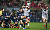 Friday 22nd November 2019   Ulster Rugby vs Clermont Auvergne<br /> <br /> Greig Laidlaw during the Heineken Champions Cup Pool 3 Round 2 match between Ulster Rugby  and Clermont Auvergne at Kingspan Stadium, Ravenhill Park, Belfast, Northern Ireland. Photo by John Dickson/DICKSONDIGITAL