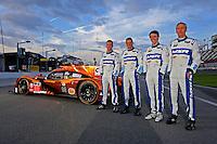 #60 Honda Ligier, Oswaldo Negri, John Pew, AJ Almendinger, Matt McMurry, Rolex 24 at Daytona, IMSA Tudor Series, Daytona International Speedway, Daytona Beach, FL, Jan 2015.  (Photo by Brian Cleary/ www.bcpix.com )