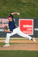 Clark Cota (62) of Topsail High School in Hampstead, North Carolina playing for the Atlanta Braves scout team at the South Atlantic Border Battle at Doak Field on November 2, 2014.  (Brian Westerholt/Four Seam Images)