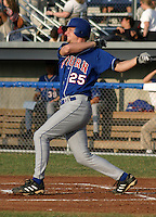July 28, 2003:  A.J. Porfirio (25) of the Auburn Doubledays, Class-A affiliate of the Toronto Blue Jays, during a game at Dwyer Stadium in Batavia, NY.  Photo by:  Mike Janes/Four Seam Images