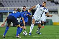 Stefano Sensi of Italy and Edin Dzeko of Bosnia during the Uefa Nation League Group Stage A1 football match between Italy and Bosnia at Artemio Franchi Stadium in Firenze (Italy), September, 4, 2020. Photo Massimo Insabato / Insidefoto