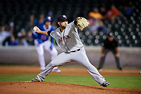 Colorado Springs Sky Sox relief pitcher David Goforth (32) delivers a pitch during a game against the Oklahoma City Dodgers on June 2, 2017 at Chickasaw Bricktown Ballpark in Oklahoma City, Oklahoma.  Colorado Springs defeated Oklahoma City 1-0 in ten innings.  (Mike Janes/Four Seam Images)